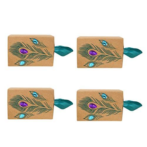 Toyvian Cajón papel Caja dulces Taladro Caja almacenamiento