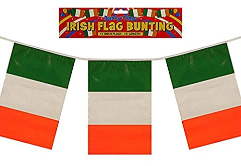 Ireland Irish Flag Bunting St Patricks Day White Green PVC Football Decoration