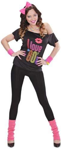 80s T-shirt with Bow Headband and Leg Warmers - Large