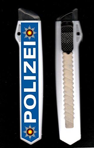 Cutter Messer 18 mm XL Klinge Motiv POLIZEI für Heimwerker Handwerker Basteln