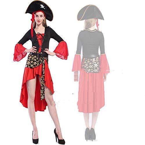 ZGCP Halloween kostüm erwachsene kleid kostüm leistung anzug piraten charakter kostüm erwachsene piraten kostüm - Zombie Piraten Kostüm Weiblich