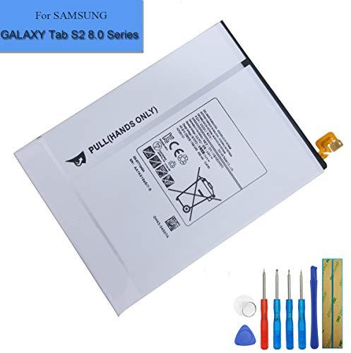 Batteria di ricambio EB-BT710ABE compatibile con Samsung Galaxy Tab S2 8.0,Galaxy Tab S2 Nook 8.0 LTE-A SM-T710 SM-T715 SM-T715C SM-T715N0 SM-T715Y + Tools
