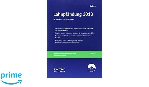 Lohnpfändung 2018 Tabellen Und Erläuterungen Amazonde Udo