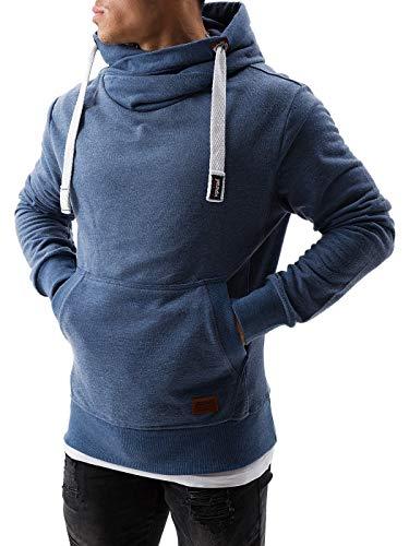 Yazubi Kapuzenpullover Herren Hoodie Edward - Hoody Pulli Blauer Hoodie für Männer Pullover blaues Sweatshirt, Blau (Bijou Blue 183921), XL
