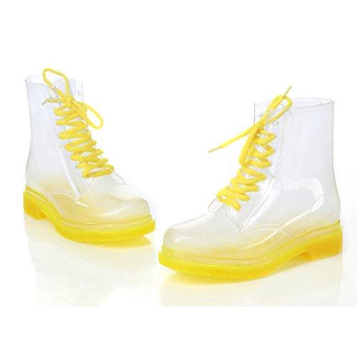 Nonbrand Damen Blockabsatz synthetischer Stiefelette Gelb
