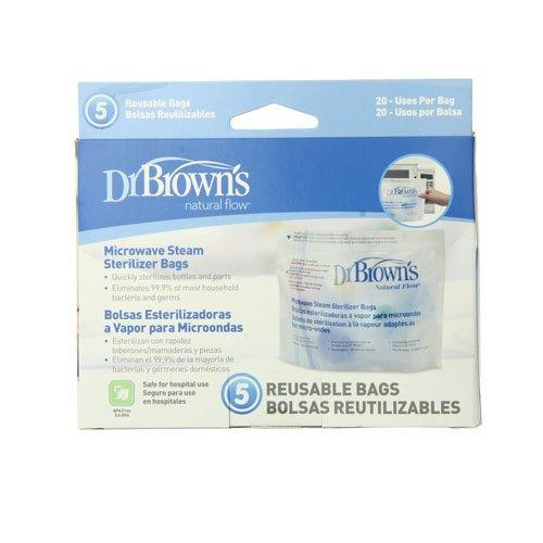 Dr. Brown's 157077.2 – Bolsas para esterilización en microondas, 5 unidades