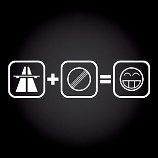 Autobahn + No Limit = Fun Smiley Aufkleber 20,0 cm x 5,2 cm JDM OEM Tuning Sticker Decal 30 Farben zur Auswahl