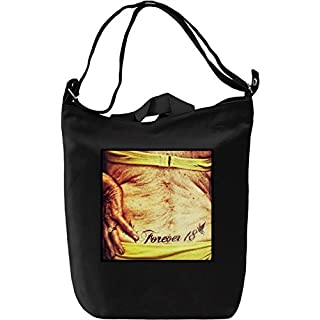 Forever 18 Grandma Leinwand Tagestasche Canvas Day Bag  100% Premium Cotton Canvas  DTG Printing 