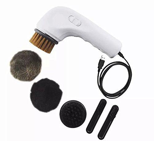 Schuh-polierer (Alisable Multifunktionaler Schuh-Polierer, wiederaufladbar, mit Bürstenaufsatz, Tragbar, für Leder-Pflege)