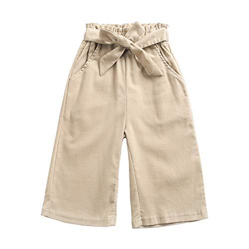 Sanlutoz Coton Un Pantalon pour Filles Mode Bébé Fille Pantalon Décontractée Bambin Vêtements (12-18 mois/80cm, KPW8111-KA)