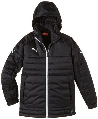 PUMA Kinder Jacke Stadium Jacket, Black/White, 152 Black Cat Fleece Jacket