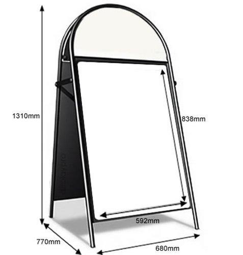 A1negro Booster pavimento cartel Frame Holder Soporte de pantalla al aire libre Caf 'A-Board–envío gratuito.