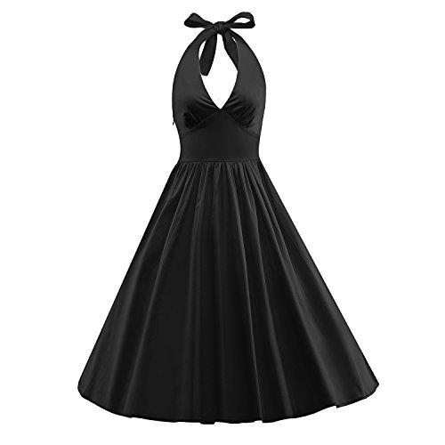 ILover Frauen-Weinlese 1950 Marilyn Monroe Rockabilly großen (Mode 40 Kostüme Jahre)