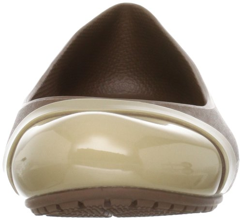 Crocs Cap Toe, Ballerines femme Or (Bronze/Gold)