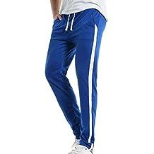 4cd2eaa61 Hombres Ocio Pantalones Raya Suelto Harlan Pantalones Moda Hip Hop  Pantalones Deportivos Pierna Estrecha Pantalones Rojo