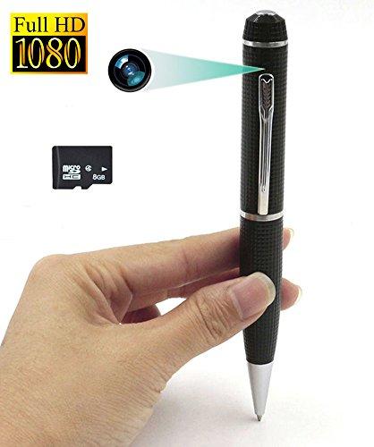 Tangmi 1080P Mini-Kugelschreiber-Kamera, tragbare kleine Kamera für Video-Aufnahmen und nehmen Fotos, Mini-Überwachung Kamera Eingebaute Batterie mit PC Webcam-Funktion