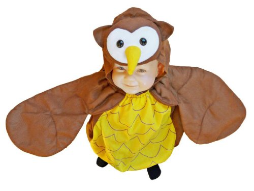 Seruna f68 - costume da gufo per bambini, indossabile sopra i vestiti, taglia 74-98 cm
