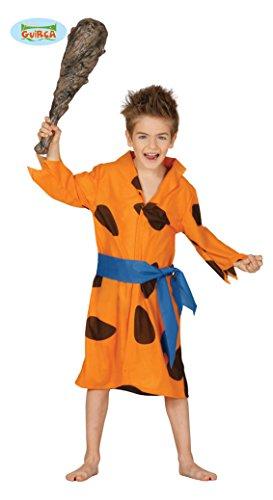 Costume vestito Fred Flintstone carnevale bambino taglia 10-12 anni