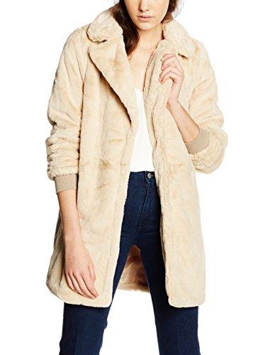 VERO MODA Damen VMDIMITRA 3/4 JACKET Mantel, Beige (Ivory Cream), 40 (Herstellergröße: L) - Cream Mantel