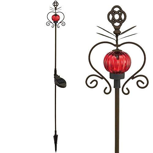 Eglo 90504-Outdoor Lighting (Pedestal/Post, LED, battery, Solar, Neutral White, Black, Red) -