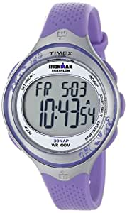 Timex Sport Ironman Midsize Quartz Strap Watch with LCD Dial Digital Display and Purple Resin - T5K603