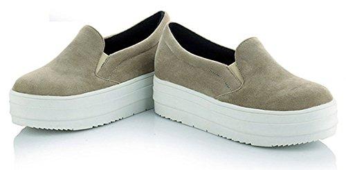 Aisun Damen Suede Slip-On Dicker Sohle Flache Schuhe Sneaker Schwarz 42 EU lZOIfEB