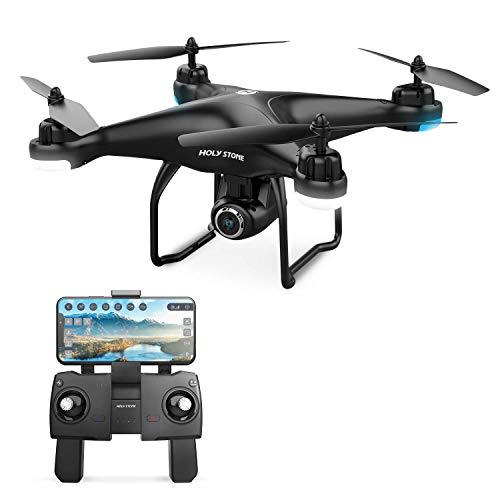 Holy Stone HS120D RC GPS Drohne mit 1080P Kamera HD Live Übertragung,Follow Me,Quadrocopter ferngesteuert mit WiFi APP Steuerung,Coming Home,längere Flugzeit,Kleine Foto Drohne für Kinder Anfänger