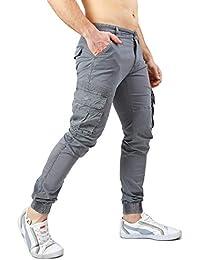 Instinct Pantaloni Cargo Uomo con Tasche Laterali Tasconi Zip Slim Fit W7 af686ab6eba4
