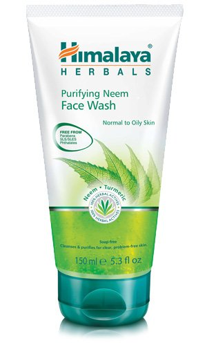 Himalaya Herbals Purifying Neem & Turmeric Face Wash Normal to Oily Skin Soap Free (Free from Parabens SLS /SLES Phthalates)