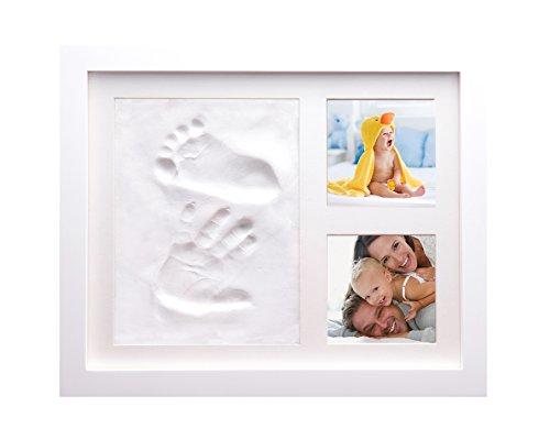 Baby Hand und Fußabdruck Bilderrahmen von babysimba–2Pack. 100% Geld zurück-Garantie,. Der perfekte Andenken für eine Babyparty oder Taufe Geschenk. 100% Baby Safe Clay-Guss-Set, und ist geeignet für Neugeborene bis Kleinkinder. Get Druck. (Billig Gold Tischdecken)