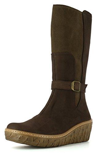 Mukluk-stiefel (El Naturalista N5134 Myth Yggdrasil Komfortabler Damen Stiefel, Schlupfstiefel, Boot, Keilabsatz, Wedge Absatz Braun (Brown), EU 37)