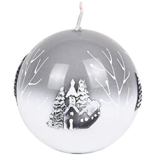 stahlgraue bola vela vela de Navidad Noche de 80mm de diámetro Sagrada
