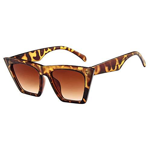 REALIKE Unisex Sonnenbrille Neon Farben Leopardenmuster Dreieckig Brille Party Sonnenbrille Herz Sunglasses Metall Rahmen Pack für Damen Sommer Mode Travel Eyewear
