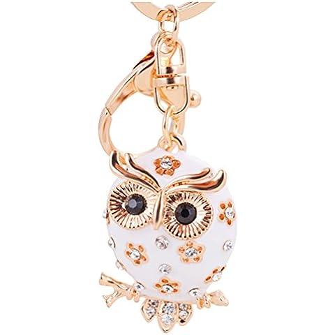 S&E Donna bella del gufo del rhinestone pendente di portachiavi fascino del metallo del sacchetto della borsa titolari catena chiave