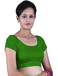 d4cdf2b77364e RB Creation Women s Lycra Short Sleeve Back Designer Stretchable Blouse