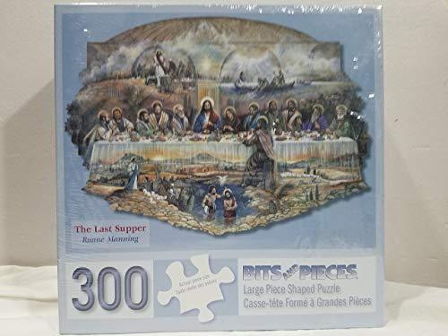 Bits and Pieces 300 Stück geformtes Puzzle für Erwachsene Das letzte Abendmahl 300 Pc Religiösen Puzzle Ostern Puzzle von Künstlern Ruane Manning