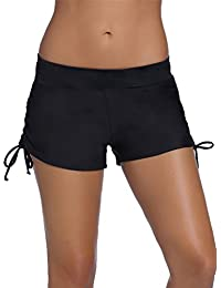 Minetom Bikini Shorts De Bain Femme Beach Été Piscine Plage Maillot Drawstring Confortable Décontracté Beaucoup De Couleurs