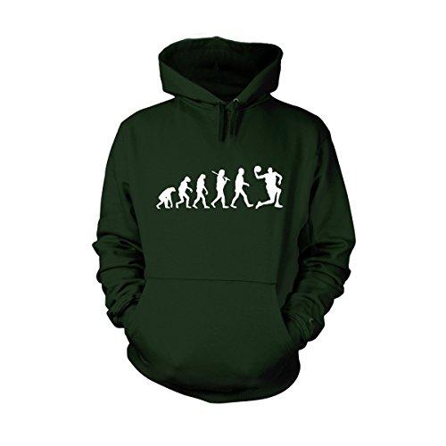 Shirtfun24 Herren EVOLUTION BASKETBALL Basketballspieler Fun Hoodie bottle grün, L