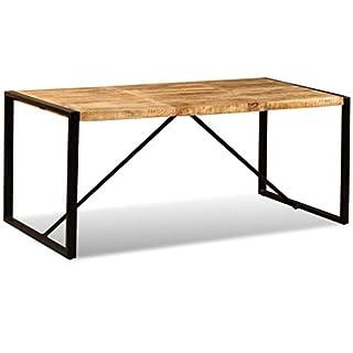 vidaXL Table de Salle à Manger Bois manguier Brut 180 cm