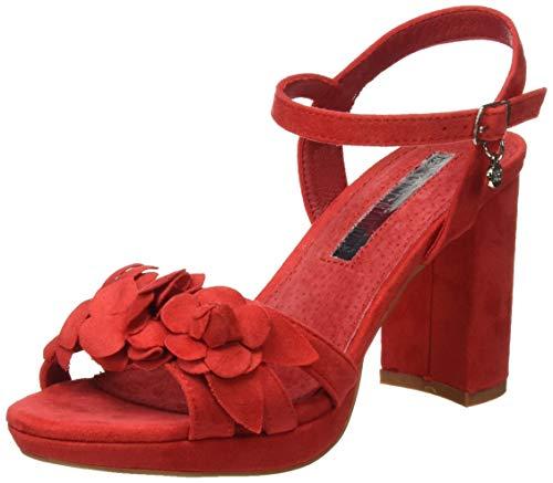 XTI 35044, Zapatos con Tira de Tobillo para Mujer, Rojo, 38 EU