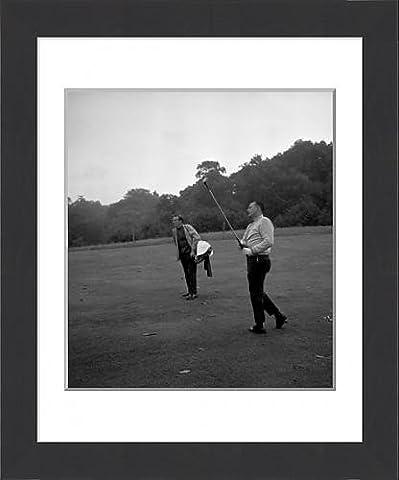 Framed Print of Golf - Practice Day - Billy Casper - Wentworth