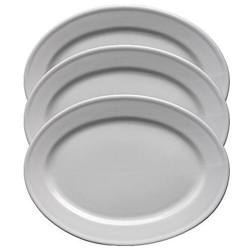 Holst Porzellan Acc 235 FA1 3er Set Servierplatten, weiß