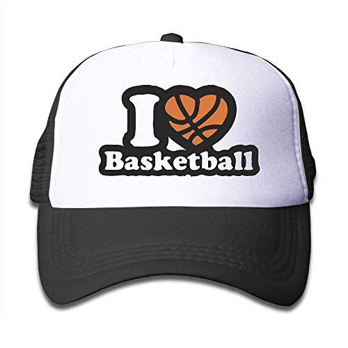 zhkx 25564 I Love Basketball On Kinder Trucker Hut Jugend Kleinkind Mesh Hats Baseball Cap Hip-Hop