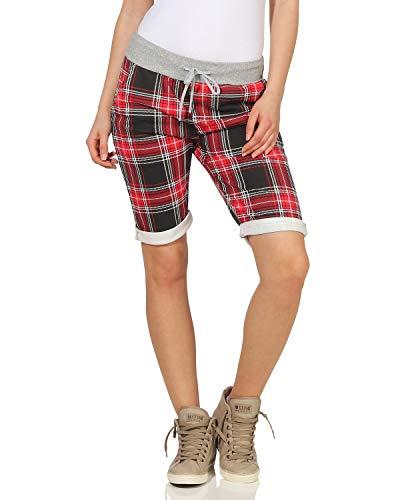66641d30a ZARMEXX Pantalones Cortos para Mujer Pantalones de Verano Boyfriend de  Bermudas de Capri - Estampado Completo, Talla única