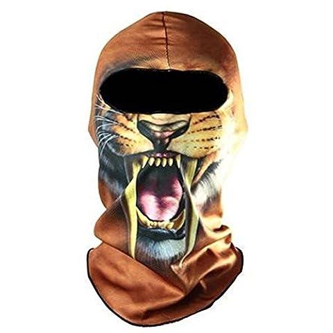 masque de ski de cyclisme - SODIAL(R)Masque animal adulte Halloween