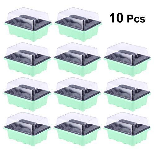 Yardwe - 10 bandejas para la germinación Kit para la germinación 12