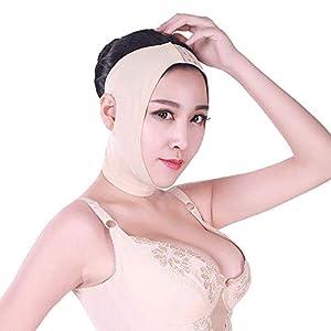 LQUIDE Leichte und atmungsaktive kleine V-Gesichtsbinde, Formende Maske/Maskenlifting/Gesichtsstraffungsartefaktlifting Doppelkinn (Farbe), XS