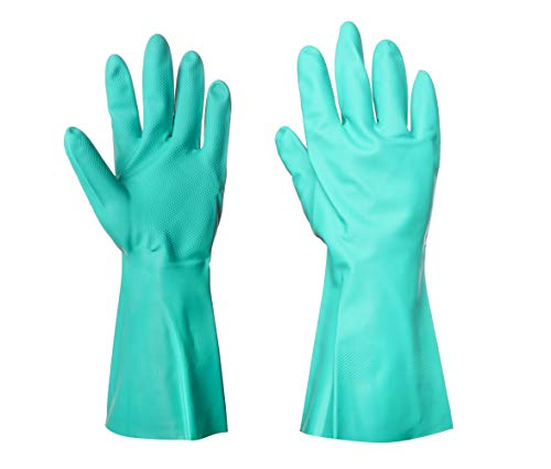 Midas Tuff-N-Lite Size 9 V Nitrile Solvent/Oil & Fat/Chemical Resistant Glove - One Pair