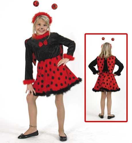 n Kleid mit Flügel und Plüsch-Rock Fasching Karneval Kinder Kostüm: Größe: 116 (Marienkäfer Plüsch Mit Flügeln Kostüme)