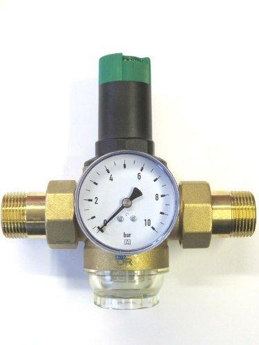 Honeywell Braukmann Druckminderer D06F 1' Zoll + Manometer Druck Minderer